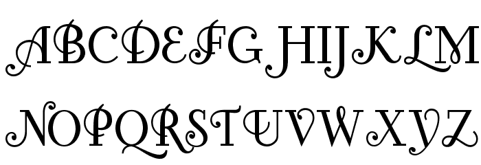 Fontleroy Brown NF Font UPPERCASE