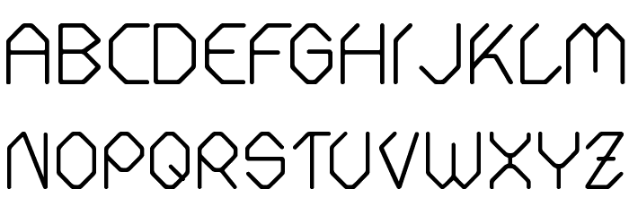 Fontmaker Slash Font LOWERCASE