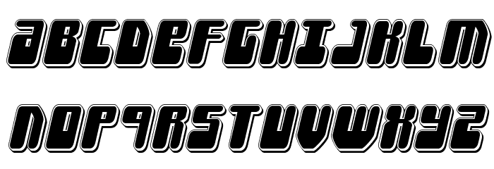 Force Majeure Punch Italic Fonte MAIÚSCULAS