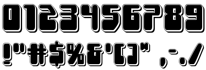 Force Majeure Punch Font OTHER CHARS