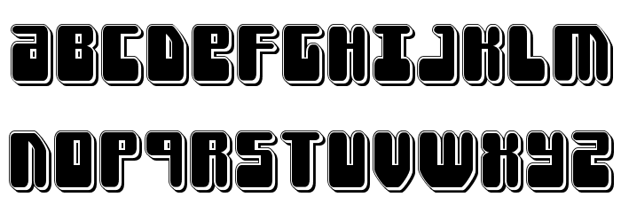 Force Majeure Punch Font UPPERCASE