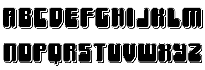 Force Majeure Punch Font LOWERCASE