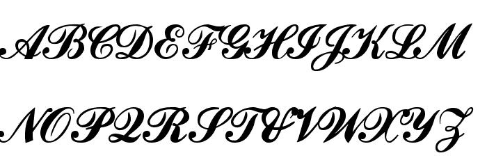 Ford script Font Litere mari