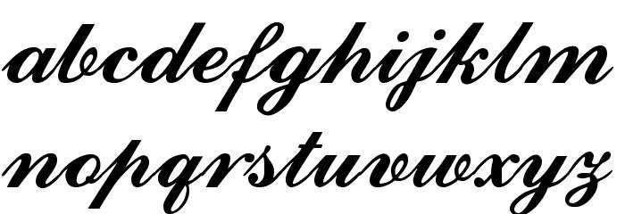 Ford script Font Litere mici