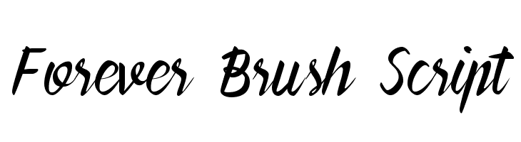 Forever Brush Script  Free Fonts Download