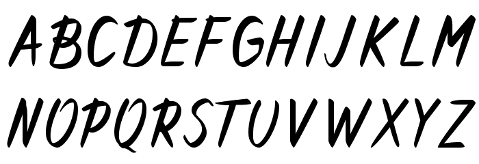 Forever Brush Script Caratteri MAIUSCOLE
