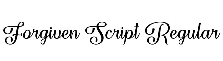 Forgiven Script Regular  Скачать бесплатные шрифты