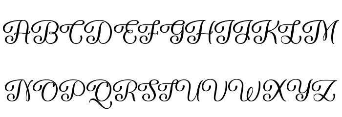 Forgiven Script Regular Шрифта ВЕРХНИЙ