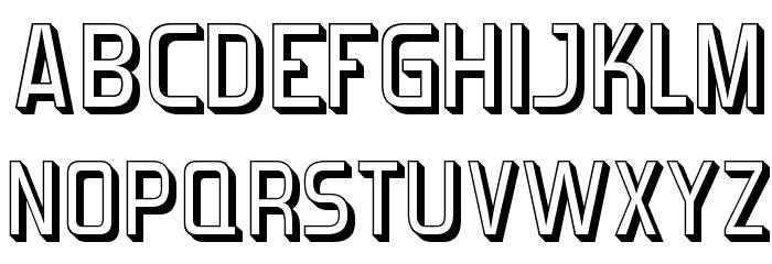 Forgotten Futurist Shadow Fonte MAIÚSCULAS