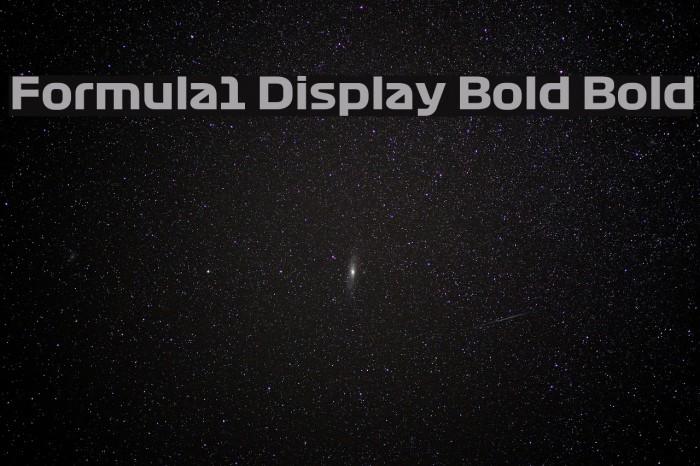 Formula1 Display Bold Bold Fuentes examples