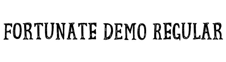 Fortunate DEMO Regular  免费字体下载