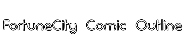 FortuneCity Comic Outline Font