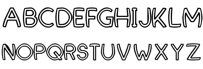 FortuneCity Comic Outline Font UPPERCASE