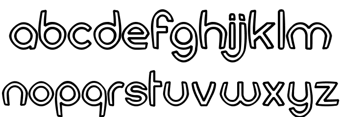FortuneCity Comic Outline Font LOWERCASE