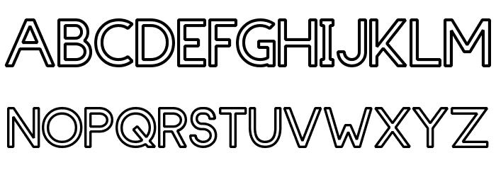 FortuneCity Outline Font UPPERCASE