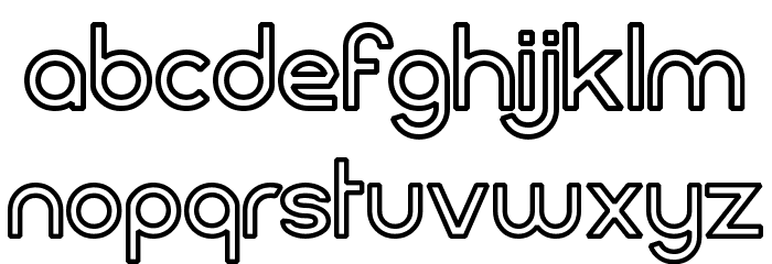 FortuneCity Outline Font LOWERCASE