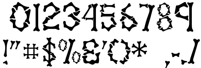 Fossil Regular Шрифта ДРУГИЕ символов