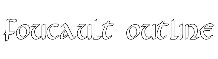 Gothic Free Fonts on FFonts net like Foucault Outline, Fouca