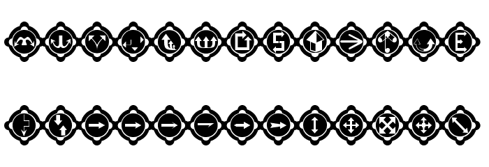 FourEarsArrows Font LOWERCASE