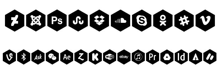 font icons 120 Fonte OUTROS PERSONAGENS