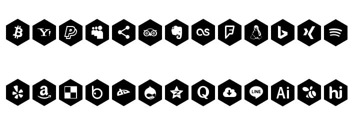 font icons 120 Fonte MAIÚSCULAS