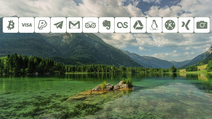 font social media 字体 examples