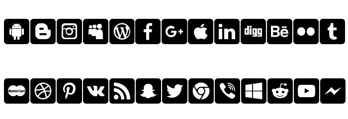 font social media 字体 小写