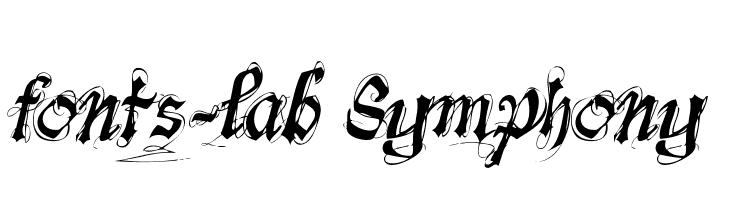 fonts-lab Symphony  les polices de caractères gratuit télécharger
