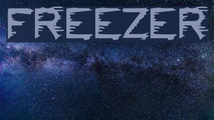 FREEZER फ़ॉन्ट examples