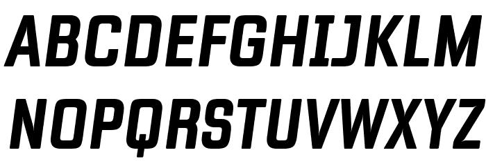 Fragua Bold Italic Caratteri MAIUSCOLE