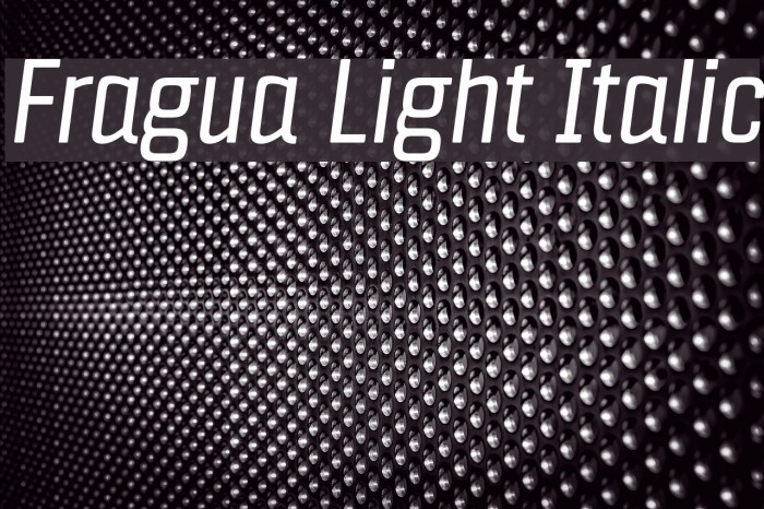 Fragua Light Italic フォント examples