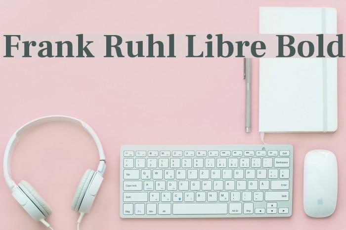 Frank Ruhl Libre Bold Font examples