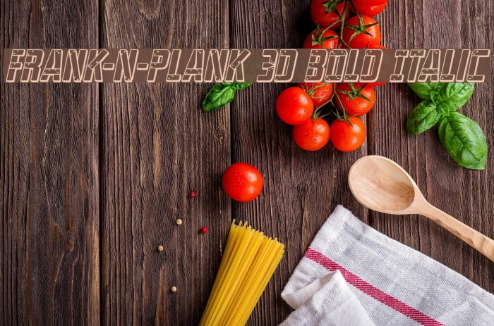Frank-n-Plank 3D Bold Italic Font - free fonts download