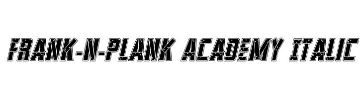 Frank-n-Plank Academy Italic  font caratteri gratis