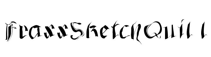 FraxxSketchQuil l  Скачать бесплатные шрифты