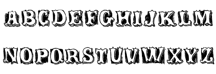 Freaks Schriftart Kleinbuchstaben