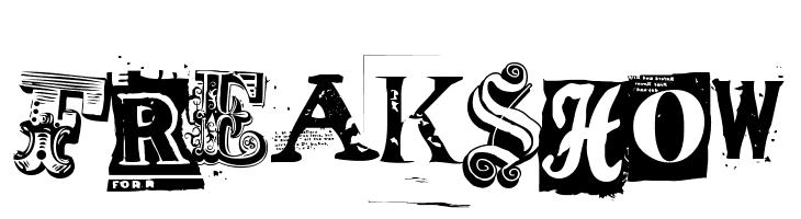 Freakshow  Free Fonts Download