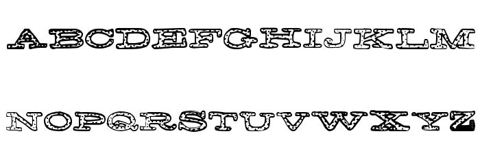 FreckleJackson Font UPPERCASE