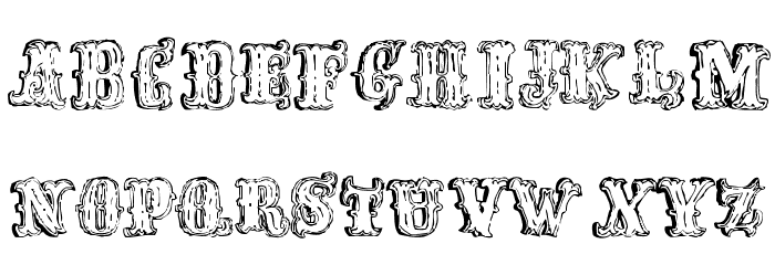 FredWildWest-Regular Font UPPERCASE