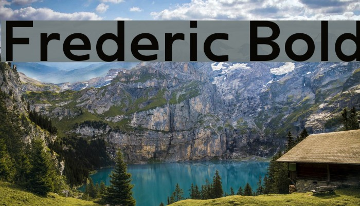 Frederic Bold Font examples