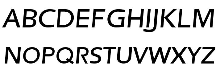 Frederic Regular Italic फ़ॉन्ट अपरकेस