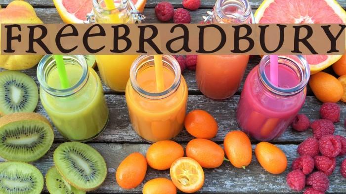 FreeBradbury Fonte examples