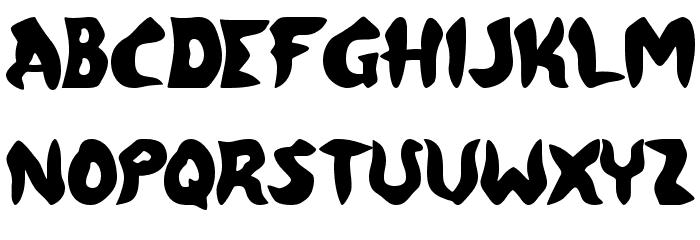 FreeMoney Font UPPERCASE