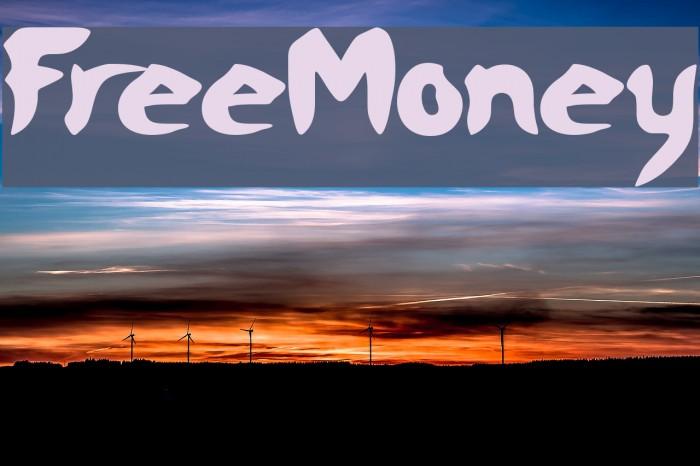 FreeMoney Font examples