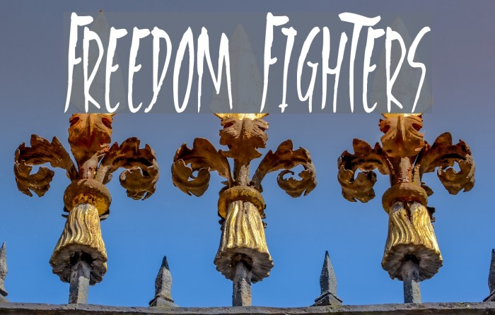 Freedom Fighters Font examples