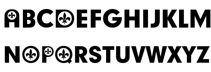 French Participants Schriftart Groß