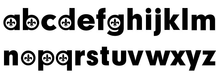 French Participants Schriftart Kleinbuchstaben
