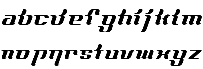 FrenchCurve ALP Шрифта строчной