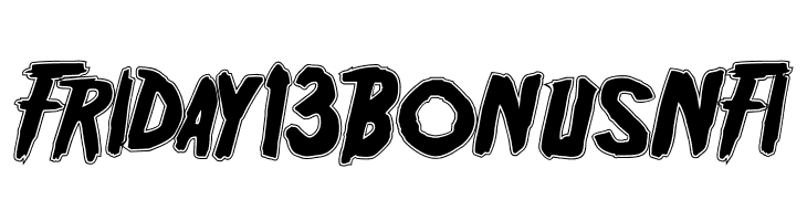 Friday13BonusNFI  Free Fonts Download