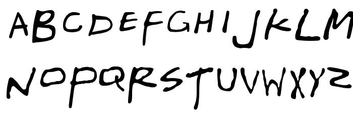 Friends Schriftart Kleinbuchstaben